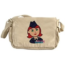 Air Force Head Red Messenger Bag