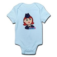 Air Force Head Red Infant Bodysuit