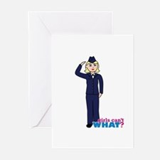 Air Force Dress Blues Light Greeting Cards (Pk of