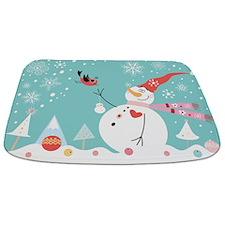 Christmas Snowman Bathmat