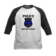 Police Men Of Steel Baseball Jersey
