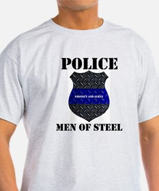 Police Men Of Steel T-Shirt
