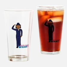 Air Force Dress Blues Dark Drinking Glass