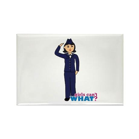 Air Force Dress Blues Dark Rectangle Magnet