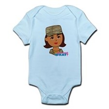 Air Force Camo Head Dark Infant Bodysuit