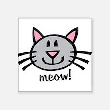Gray Meow Sticker