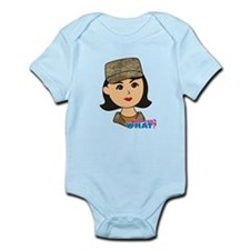 Air Force Camo Head Medium Infant Bodysuit