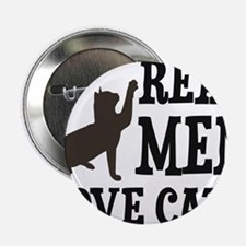 """Real Men Love Cats 2.25"""" Button"""