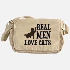 Real Men Love Cats Messenger Bag