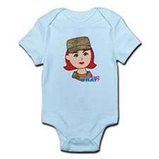 Air Force Camo Head Red Infant Bodysuit