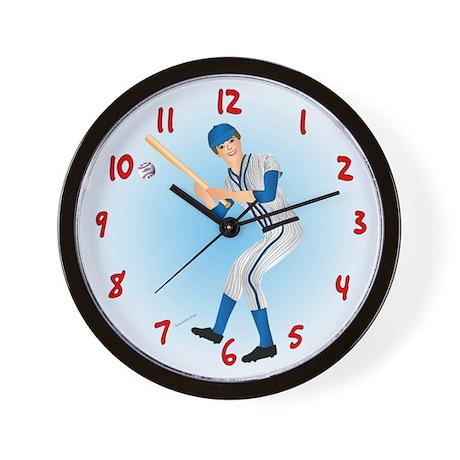 Baseball Man Wall Clock