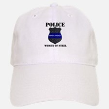 Police Women Of Steel Badge Baseball Baseball Baseball Cap