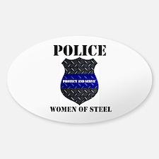 Police Women Of Steel Badge Decal