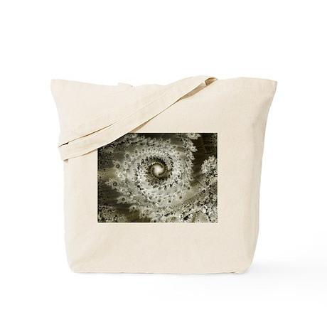 Sepia Fractal Tote Bag