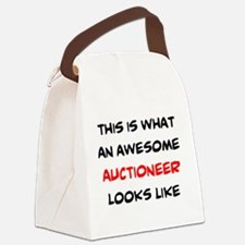 awesome auctioneer Canvas Lunch Bag