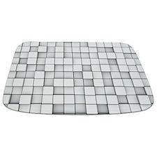 White 3D Blocks Bathmat