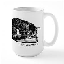 Cat on a Book Mugs