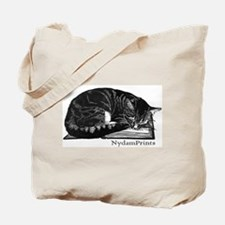 Cat on a Book Tote Bag