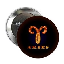 "Aries Zodiac Symbol 2.25"" Button"