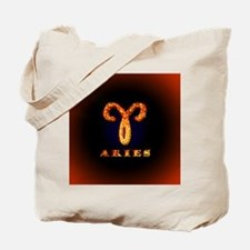 Aries Zodiac Symbol Tote Bag