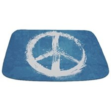 Grunge Peace Sign Bathmat