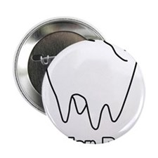 "Molar Bear Polar Tooth Bear 2.25"" Button"