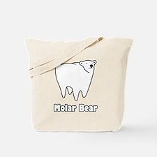 Molar Bear Polar Tooth Bear Tote Bag