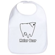 Molar Bear Polar Tooth Bear Bib