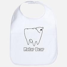 Molar Bear Polar Tooth Bear Bib