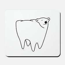 Molar Bear Polar Tooth Bear Mousepad