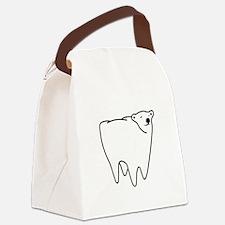 Molar Bear Polar Tooth Bear Canvas Lunch Bag