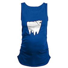 Molar Bear Polar Tooth Bear Maternity Tank Top
