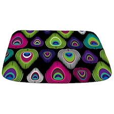 Colorful Peacock Feathers Bathmat