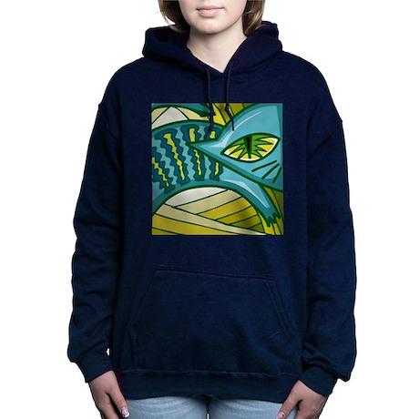 Abstract Cat Hooded Sweatshirt