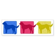 Color Row Lab Bumper Car Sticker