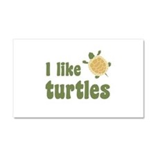I Like Turtles Car Magnet 20 x 12