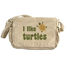 I Like Turtles Messenger Bag