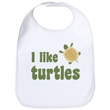 I Like Turtles Bib