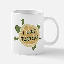 I Like Turtles Mugs