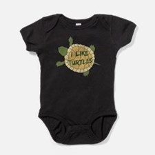 I Like Turtles Baby Bodysuit
