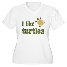 I Like Turtles Plus Size T-Shirt