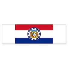 Missouri flag Bumper Bumper Sticker