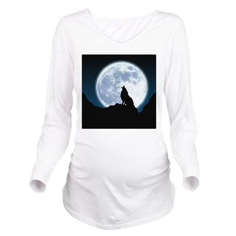 Howling Wolf Long Sleeve Maternity T-Shirt