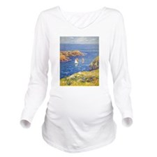 Claude Monet Calm Sea Long Sleeve Maternity T-Shir