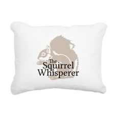 The Squirrel Whisperer Rectangular Canvas Pillow