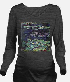 Claude Monet Water Lilies Long Sleeve Maternity T-