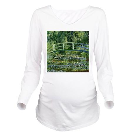 Monet Japanese Bridge Long Sleeve Maternity T-Shir