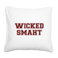 Wicked Smart (Smaht) College Square Canvas Pillow