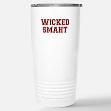 Wicked Smart (Smaht) College Travel Mug