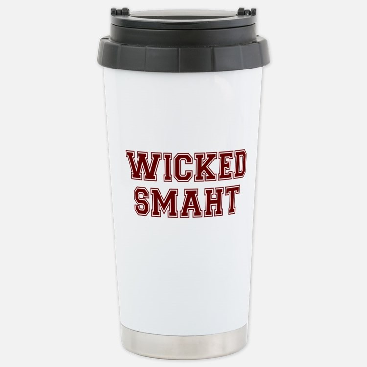 Wicked Smart (Smaht) College Travel Mug